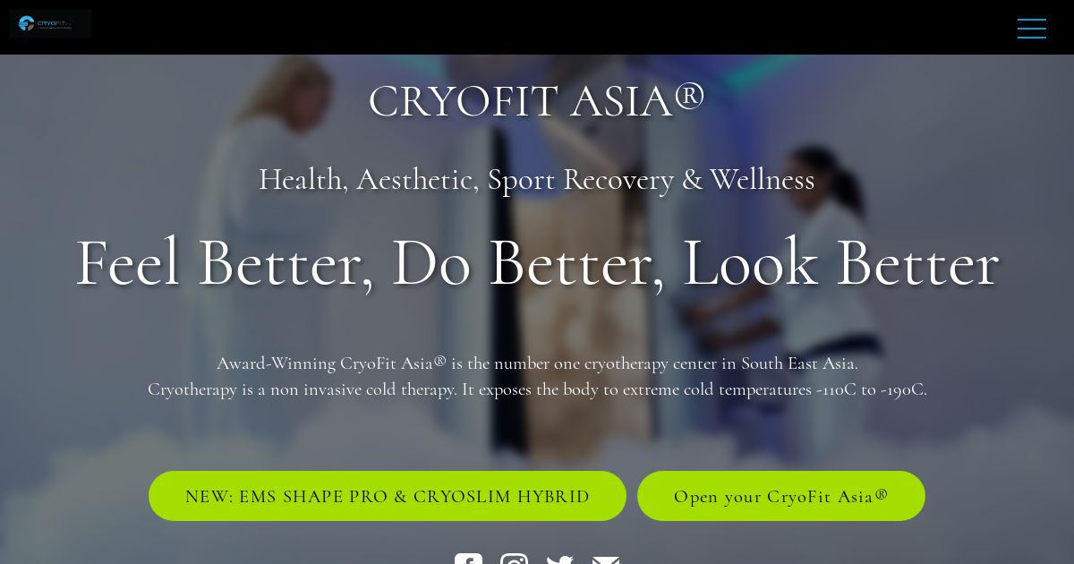 CryoFit Asia - Feel Better, Do Better, Look Better
